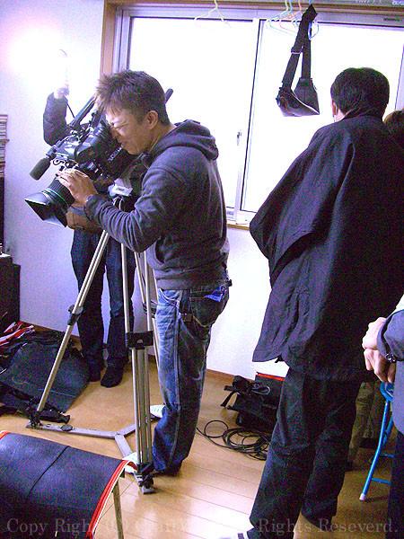 撮影クルー職人を撮る