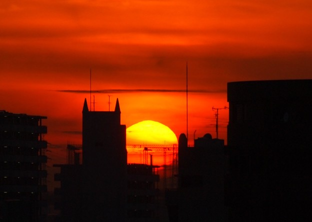 写真: 夕日番 (●^o^●)