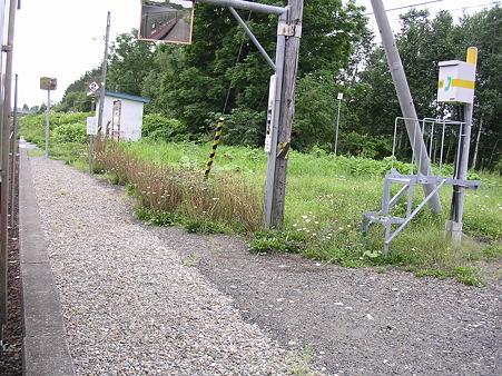 恩根内駅ホーム