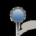 写真: Googleマップのピン(ブルー)