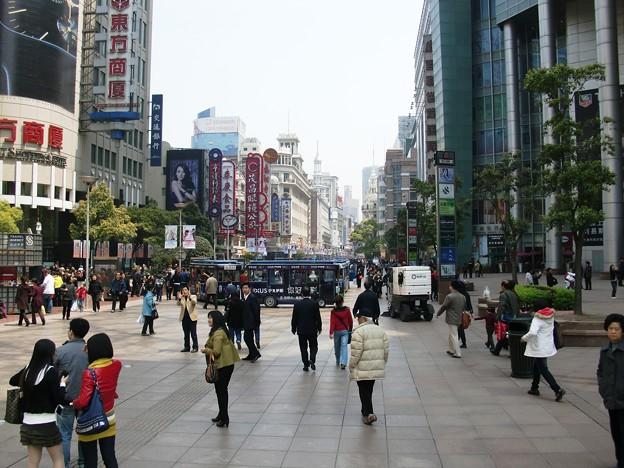 南京東路の歩行街