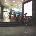 Photos: 駅上のワゴンセールに集まる方々