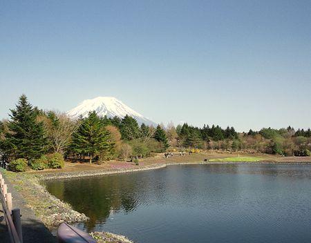 竜神池と富士山
