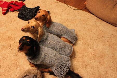モヘアのセーター(青)