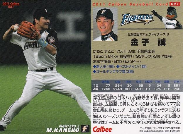 No.021金子誠(北海道日本ハムファイターズ)