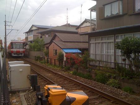 薔薇と電車