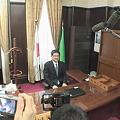 写真: 河野俊嗣新知事就任の日3