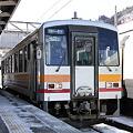 大糸線 南小谷駅 キハ120形気動車
