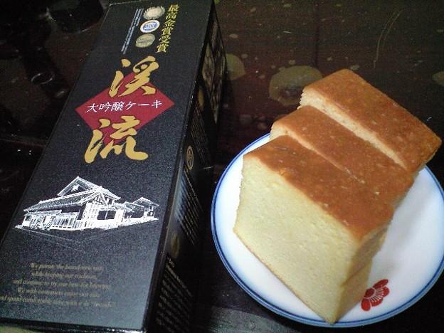 長野の大吟醸ケーキ
