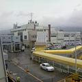 写真: 佐渡両津港に着。外は雨ですね。これからバスで客先に向かいます!