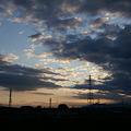 Photos: 夕暮れの鉄塔と雲