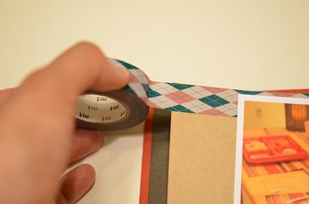 マスキングテープをページに貼る