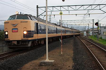583系臨時列車「仙山もみじ狩り号」 羽前千歳駅