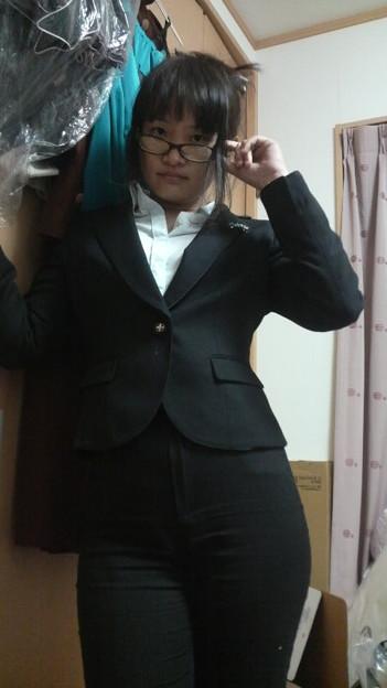 写真: とりあえず今日の服。いつものように律子。