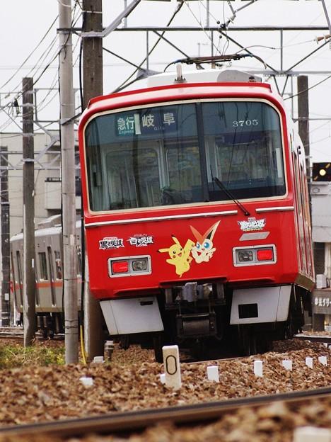 名鉄3700系3705Fボケモン・ビクティニ号