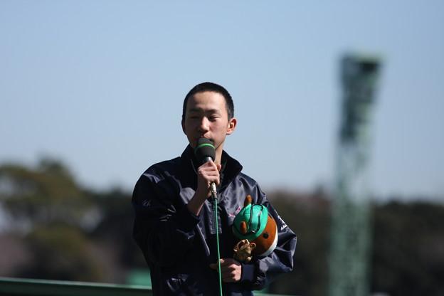 新人騎手紹介セレモニー・横山和生騎手3