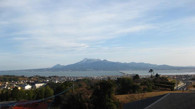 高来町から見た雲仙岳