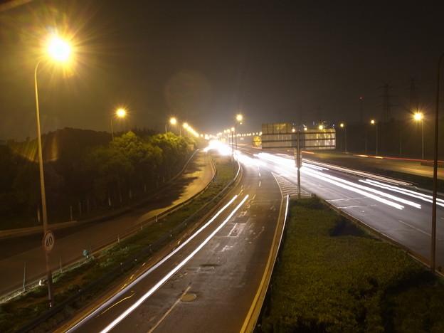 高速道路の光