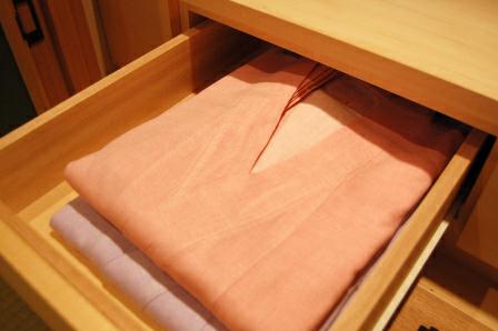 色つき浴衣