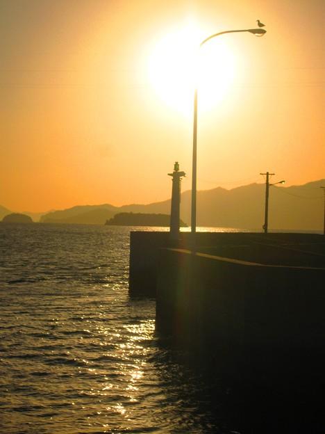 真冬の夕陽