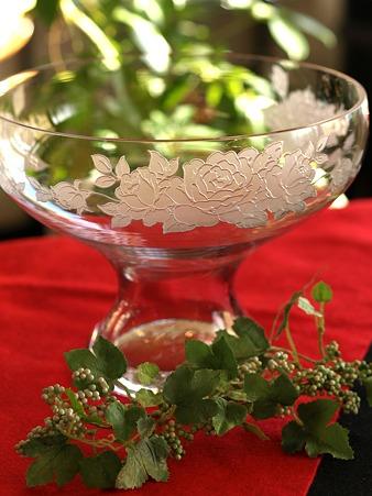 バラのガラス鉢02