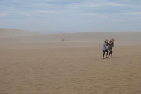 強風の砂丘