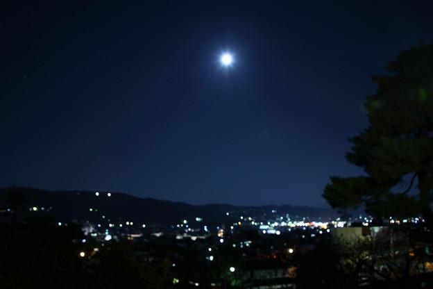 兼六園眺望台から 夜景とお月さま
