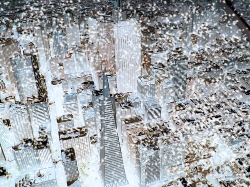 雪降るサンフランシスコ