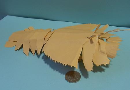 ウチワエビの切り折り紙