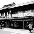 Photos: モノトーン 川越蔵造の町並みと人力車・・20120624