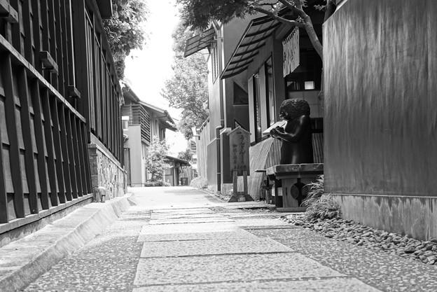 風情ある日本の街並みも。