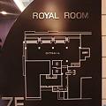 ロイヤルルームの案内図