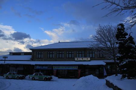 雪の遠野駅